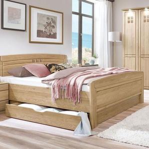 Komfort-Doppelbett Bloomfield, Eiche natur, 180x200 cm, ohne Schubkästen