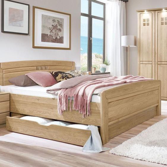 Komfort-Doppelbett Bloomfield, Eiche natur, 200x210 cm, ohne Schubkästen