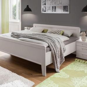 Günstiges Komfort-Doppelbett in Alpinweiß 180x210 cm - Calimera