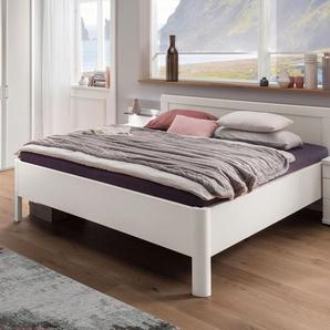 Weißes Doppelbett 180x220 cm mit gerundetem Rahmen - Cavallino