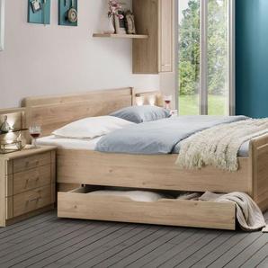 Komfort-Doppelbett Telford, Eiche natur, 180x200 cm, ohne Schubkästen