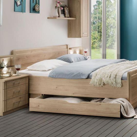 Komfort-Doppelbett Telford, Eiche natur, 180x210 cm, ohne Schubkästen