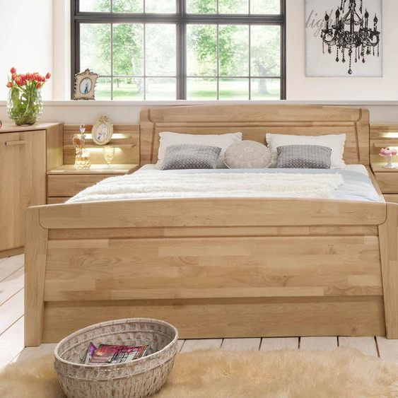 Komfort-Doppelbett Temara, Erle natur, 200x220 cm