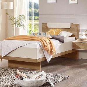 Komfort-Einzelbett Balkeneiche in Schwebeoptik 100x200 cm - Dolavon