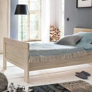 Komfortbett für Senioren Eiche Nachbildung in 100x200 cm - Sinello