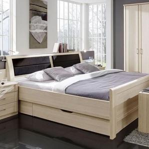 Komfort-Schubkastenbett Rapino, Esche hell, 180x200 cm, ohne Kopfteil-Bettkasten