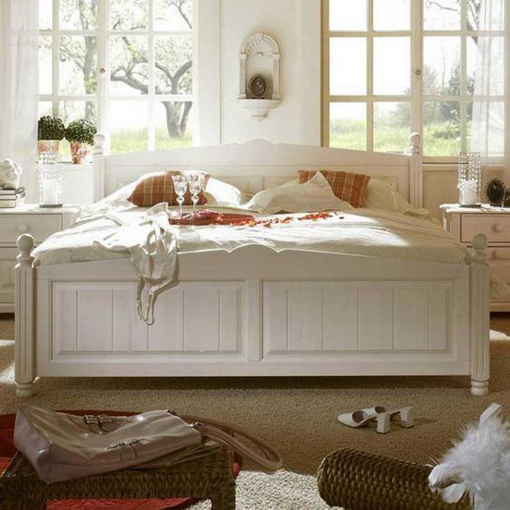 Komfortbett in Weiß Pinie
