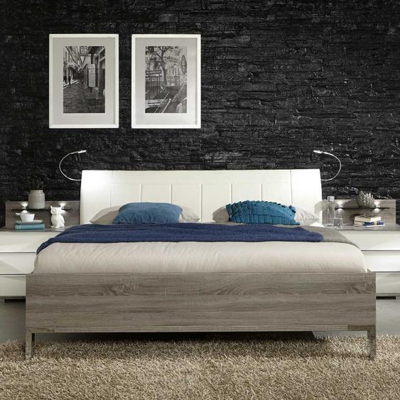 Komfortbett mit Polsterkopfteil Beleuchtung