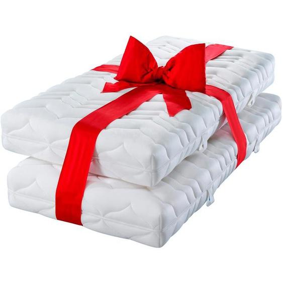 Komfortschaummatratze »Luxus20«, fan Schlafkomfort Exklusiv, 20 cm hoch, Raumgewicht: 30, (Set, 2-tlg), Sparen im Doppelpack - alle Größen = 1 Preis!