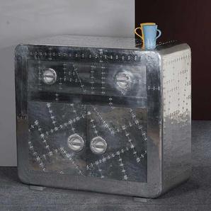 Kommode 90 cm breit in Silberfarben