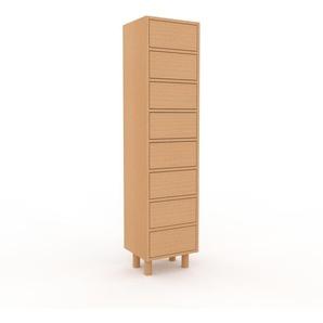 Kommode Buche - Design-Lowboard: Schubladen in Buche - Hochwertige Materialien - 41 x 168 x 35 cm, Selbst zusammenstellen