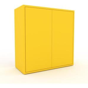 Kommode Gelb - Design-Lowboard: Türen in Gelb - Hochwertige Materialien - 77 x 80 x 35 cm, Selbst zusammenstellen