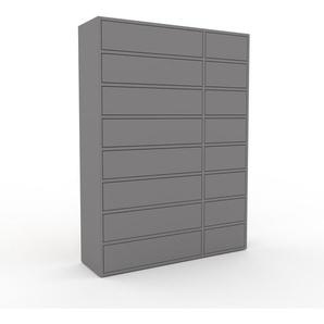 Kommode Grau - Design-Lowboard: Schubladen in Grau - Hochwertige Materialien - 116 x 157 x 35 cm, Selbst zusammenstellen