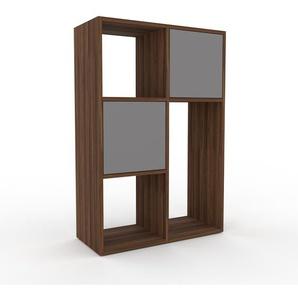 Kommode Grau - Design-Lowboard: Türen in Grau - Hochwertige Materialien - 79 x 118 x 35 cm, Selbst zusammenstellen