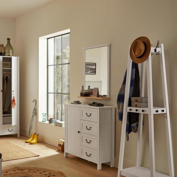 Kommode mit Tür und Schubladen - schwarz - Holz -