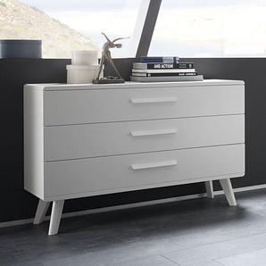 Weiße Kommode im Stil der 60er-Jahre mit drei Schubladen - Pori