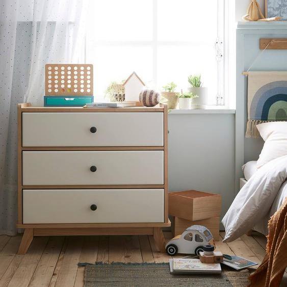 """Kommode """"Vintage"""" für Kinderzimmer weiß/natur"""