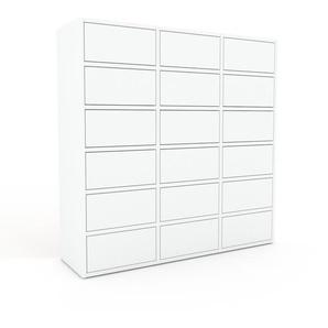 Kommode Weiß - Design-Lowboard: Schubladen in Weiß - Hochwertige Materialien - 118 x 118 x 35 cm, Selbst zusammenstellen
