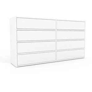 Kommode Weiß - Design-Lowboard: Schubladen in Weiß - Hochwertige Materialien - 152 x 80 x 35 cm, Selbst zusammenstellen