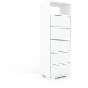 Kommode Weiß - Design-Lowboard: Schubladen in Weiß - Hochwertige Materialien - 41 x 120 x 35 cm, Selbst zusammenstellen