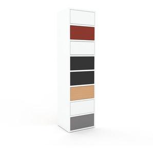Kommode Weiß - Design-Lowboard: Schubladen in Weiß - Hochwertige Materialien - 41 x 157 x 35 cm, Selbst zusammenstellen