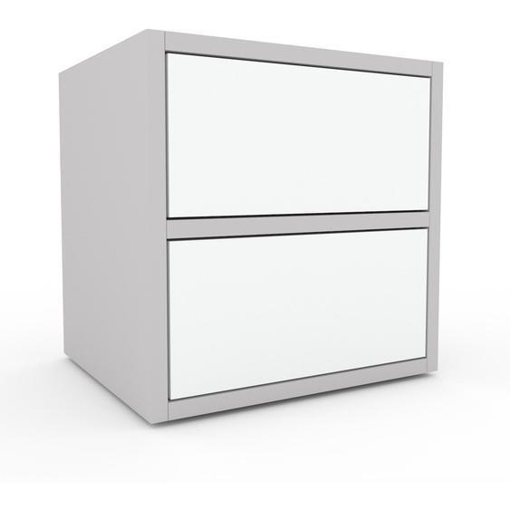 Kommode Weiß - Design-Lowboard: Schubladen in Weiß - Hochwertige Materialien - 41 x 41 x 35 cm, Selbst zusammenstellen