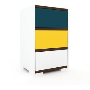 Kommode Weiß - Design-Lowboard: Schubladen in Weiß - Hochwertige Materialien - 41 x 62 x 35 cm, Selbst zusammenstellen