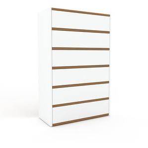Kommode Weiß - Design-Lowboard: Schubladen in Weiß - Hochwertige Materialien - 77 x 118 x 35 cm, Selbst zusammenstellen