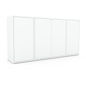 Kommode Weiß - Design-Lowboard: Türen in Weiß - Hochwertige Materialien - 154 x 80 x 35 cm, Selbst zusammenstellen