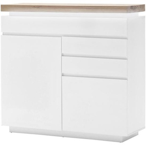 : Kommode, Holzwerkstoff, Weiß, B/H/T 120 114 40