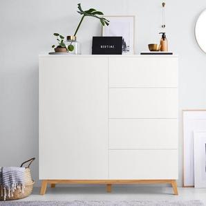 Kommode - weiß - Holz -