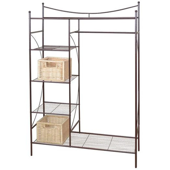 Kompakte Garderobe in Braun Eisen