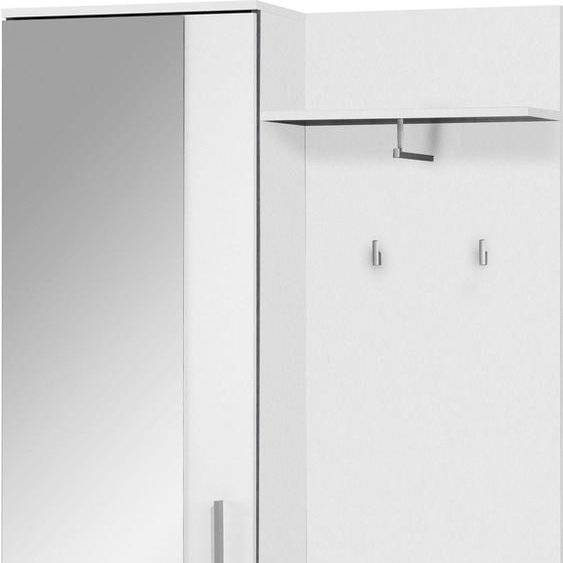 Kompaktgarderobe »Justus«, 97x195x30 cm (BxHxT), FSC®-zertifiziert, Homexperts, Material Metall, Holzwerkstoff, Kunststoff, Melamin