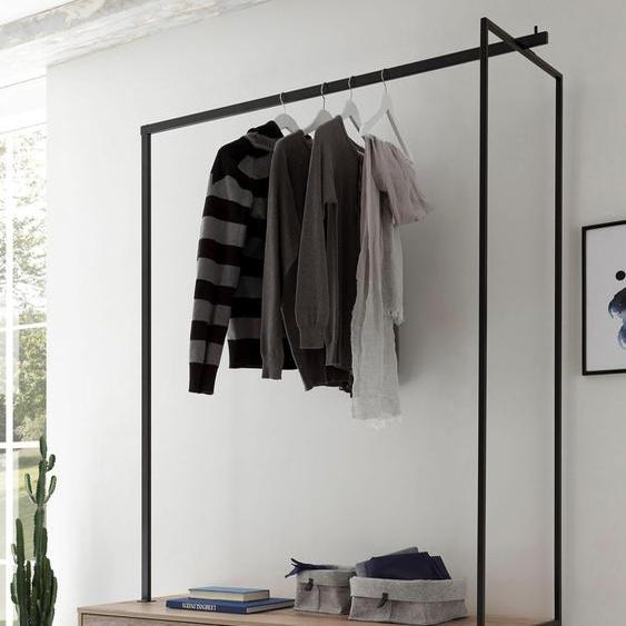 Kompaktgarderobe »Roof«, 137x186x50 cm (BxHxT), , Material Holzwerkstoff, Metall, Kunststoff
