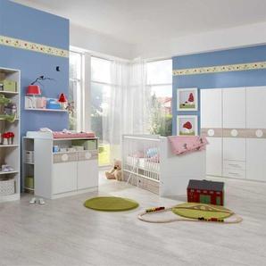 Komplett Babyzimmer in Wei� Eiche S�gerau (7-teilig)