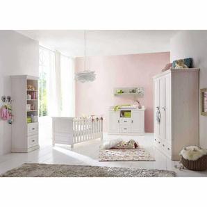 Komplett Babyzimmer in Weiß Kiefer massiv (5-teilig)