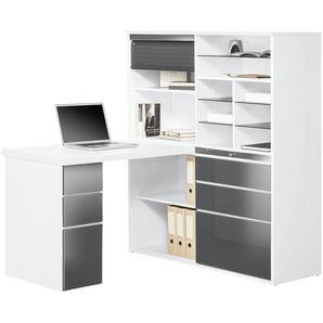 Komplett-Büro | grau | 126,6 cm | 150 cm | 187 cm | Möbel Kraft