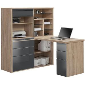 Komplett-Büro - grau - 126,6 cm - 150 cm - 187 cm | Möbel Kraft
