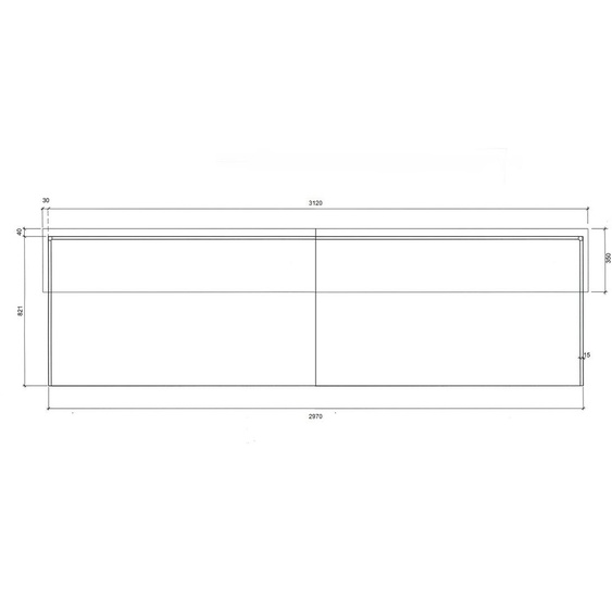 Komplett-Theke Edelstahl / Anthrazit / 297x110x85 cm