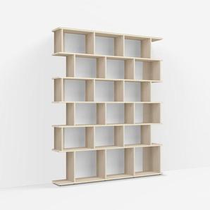 Konfigurierbare Bücherwand Esche - Furnier