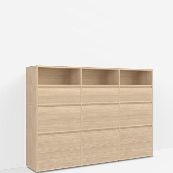 Konfigurierbare Eichen-Kommode mit Schubladen - Furnier - Eiche