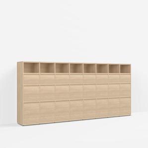 Konfigurierbare Eichen-Kommode mit Schubladen - Furnier