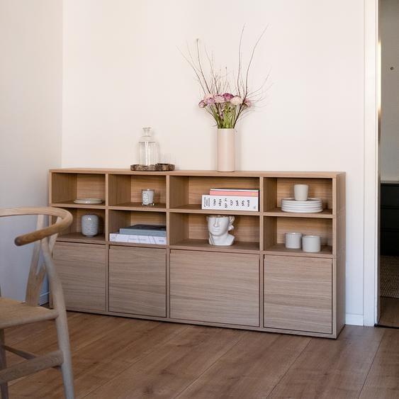 Konfigurierbare Eichen-Sideboard - Furnier - Eiche