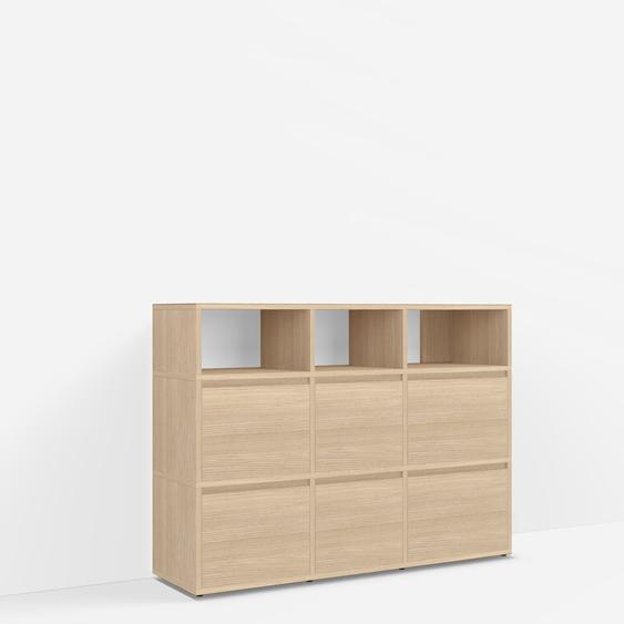Konfigurierbare Eichen-Sideboard mit Türen und Schubladen - Furnier