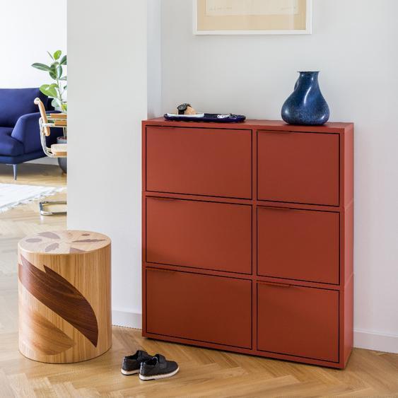 Konfigurierbares Schuhregal in modernem Rot - online ganz einfach selbst designen!