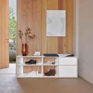 Konfigurierbares Schuhregal in modernem Weiß - online ganz einfach selbst designen!