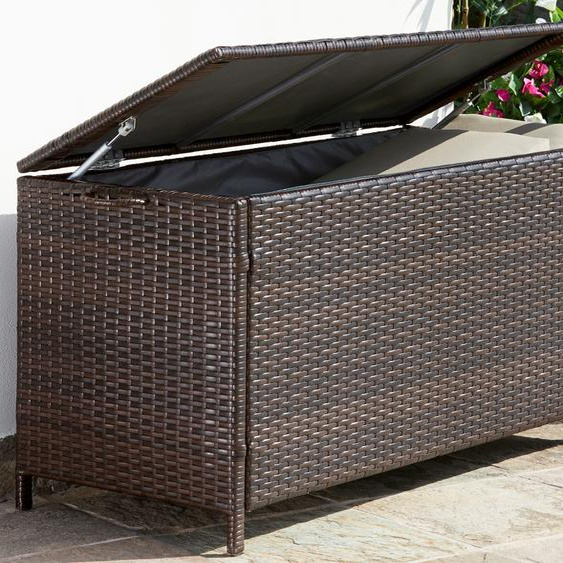 KONIFERA Auflagenbox Rattan, Polyrattan, braun B/H/T: 117 cm x 58 51 Garten- Kissenboxen Gartenmöbel Gartendeko