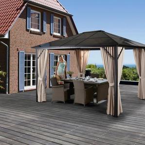 KONIFERA Set: Pavillon »Aruba«, BxL: 300x300 cm, inkl. Seitenteile