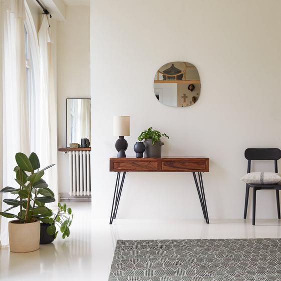 Konsole aus Palisander 120 cm breit Sideboard mit zwei Schubladen