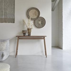 Konsole aus Teak 120 cm breit Sideboard FSC Holz skandinavischer Stil